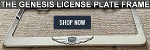 The Genesis License Plate Frame